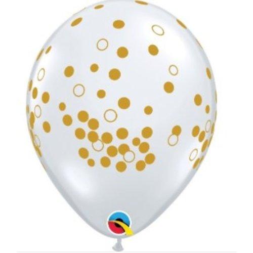 Polka dot ballonnen goud