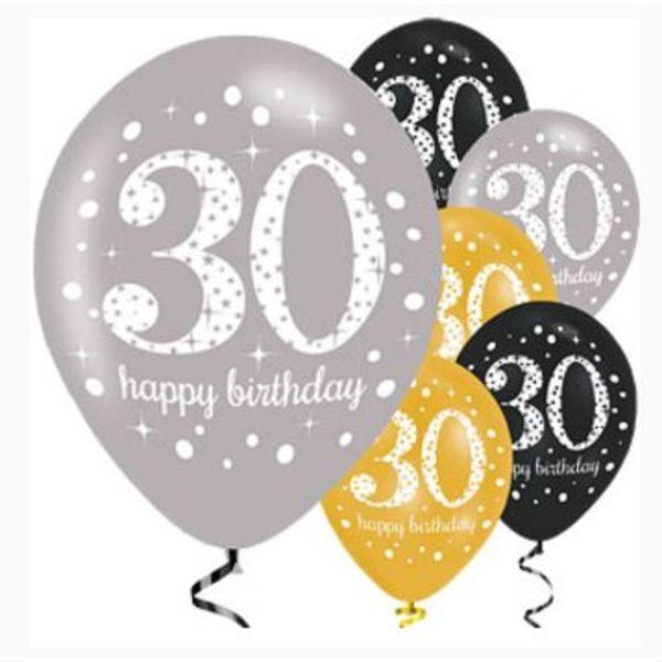 30 jaar ballonnen goud groot aanbod 30 jaar versiering for Goud zwart versiering