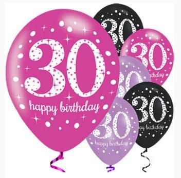 30 jaar ballonnen roze groot voordelig aanbod j style deco j style deco online feestwinkel - Deco kamer jongen jaar ...