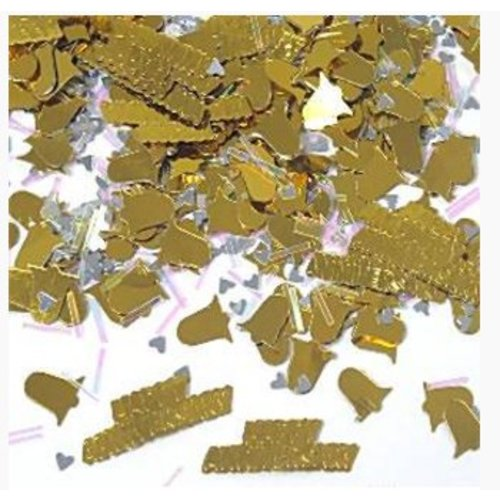 50 jaar huwelijk confetti goud