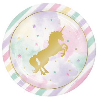 Unicorn pastel borden