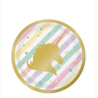 Unicorn pastel gebaksborden