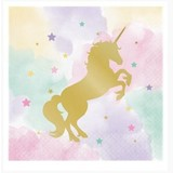 Unicorn pastel servetten