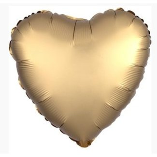Hart ballon satijn goud