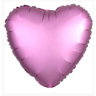 Hart ballon lila satijn