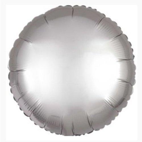Zilveren folie ballon satijn