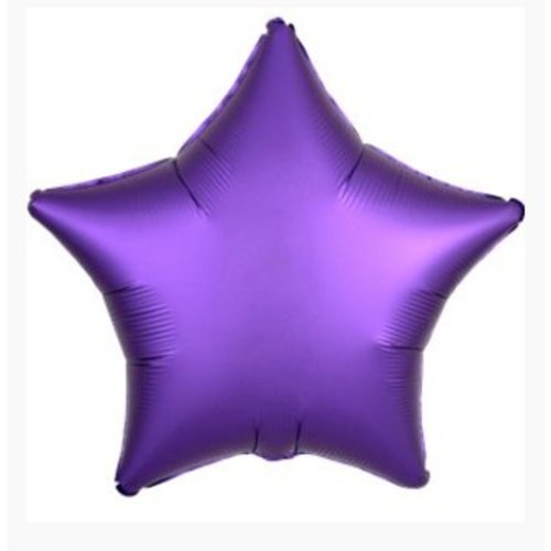 Ster ballon paars satijn