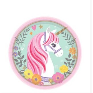 Unicorn gebaksborden mint