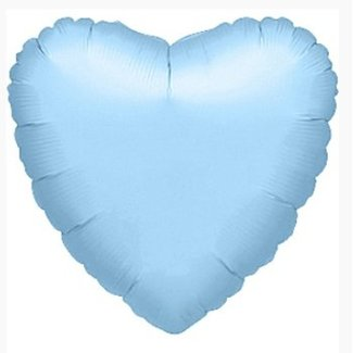 Hart ballon licht blauw XL