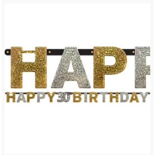 30 jaar happy birthday slinger goud