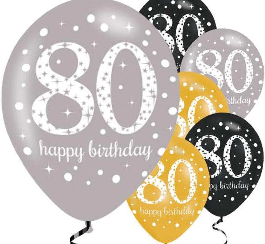 afbeelding 80 jaar 80 jaar ballonnen goud   J style deco   Groot aanbod   J style  afbeelding 80 jaar