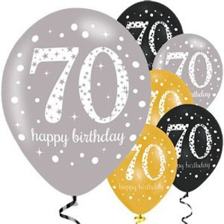 70 jaar ballonnen goud