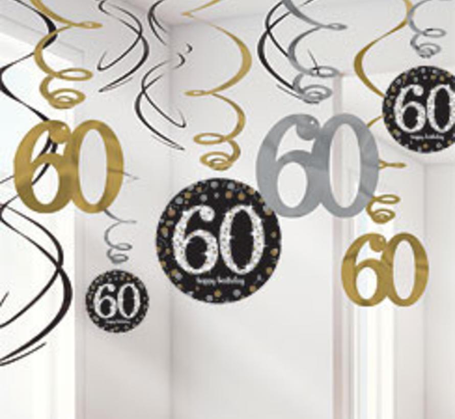 60 jaar slingers zwart goud j style deco j style for Goud zwart versiering