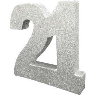 21 jaar tafel versiering zilver