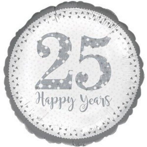 25 jaar getrouwd folie ballon