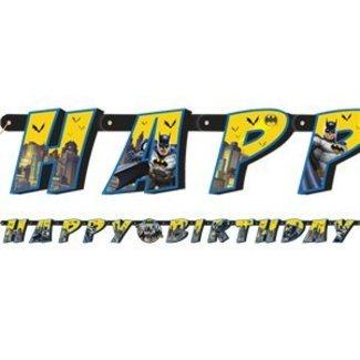 Batman happy birthday slinger geel