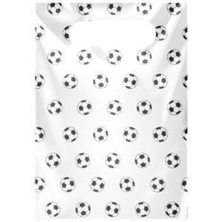 Voetbal snoepzakjes wit