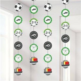 Voetbal hang slinger groen