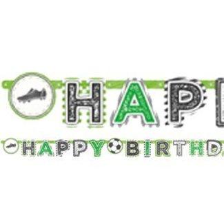 Voetbal Happy birthday slinger groen