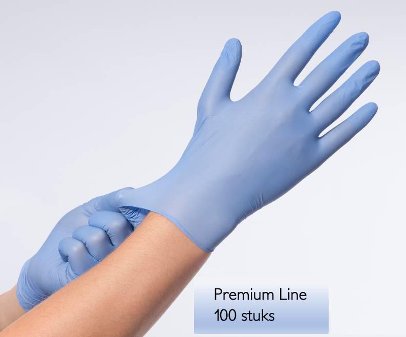 Premium onderzoekshandschoenen Blauw