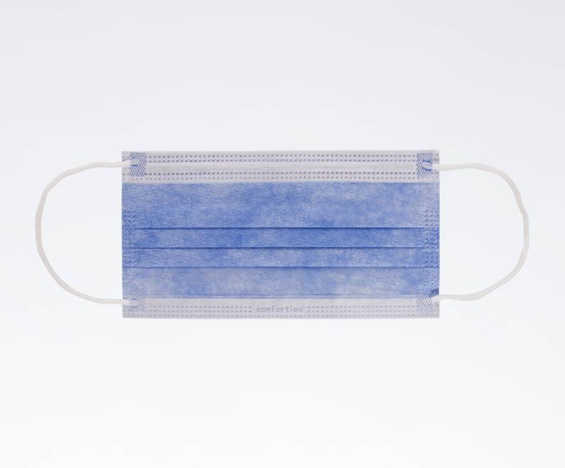 Mondmasker elastiek Blauw