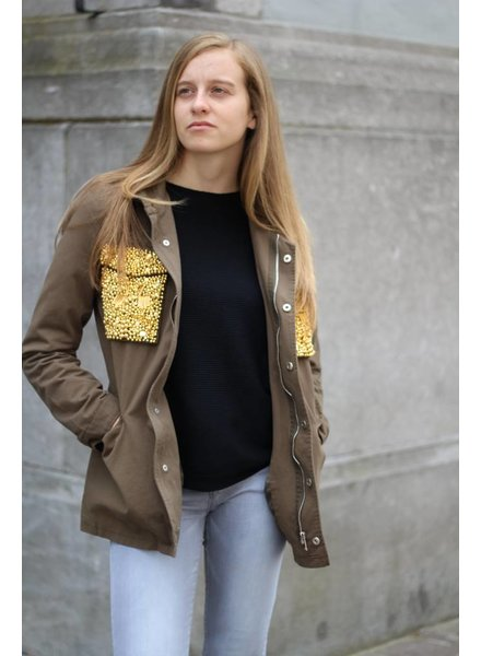 Jacket Army gold