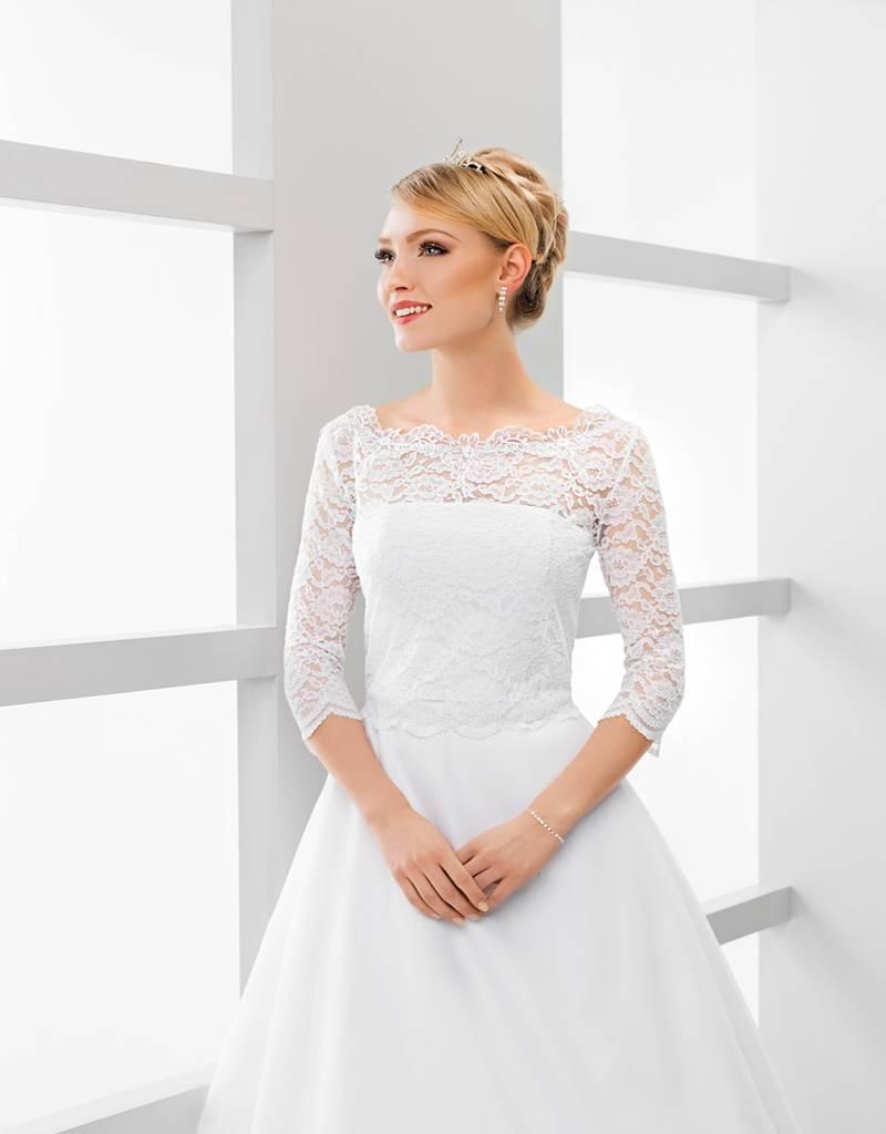 Bolerojacke aus Spitze zum Brautkleid in weiß oder ivory creme jetzt ...