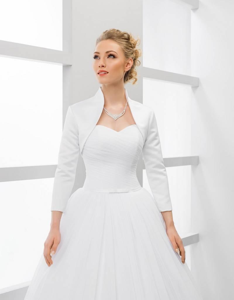Elegante Brautjacke Bolerojacke zum Brautkleid aus Satin ...