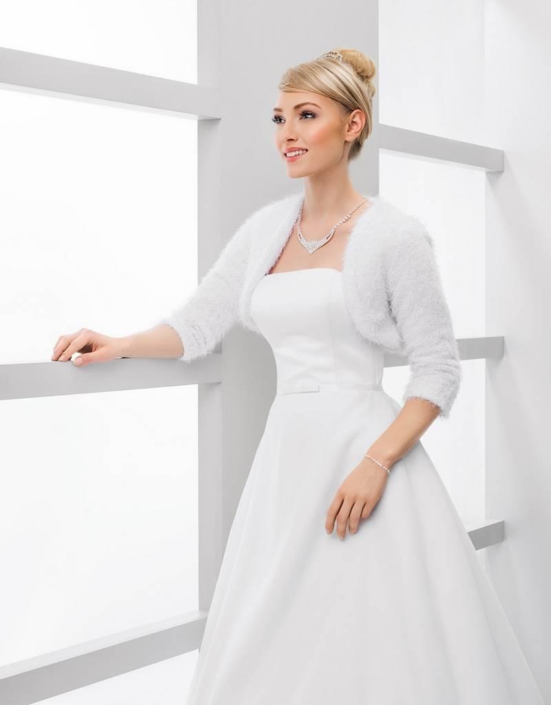 Warme Brautjacke oder Brautbolero zum Brautkleid in weiß oder ivory ...