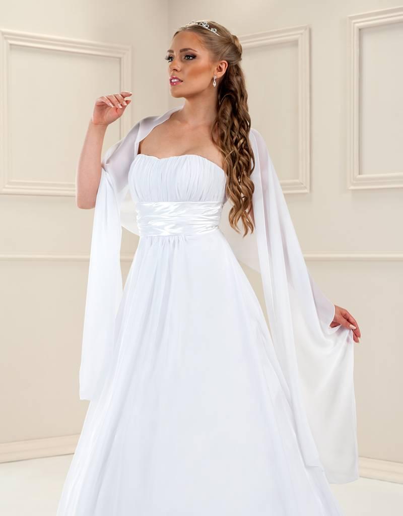 Braut Stola Umhang zum Brautkleid für Ihre Hochzeit in weiß oder ...