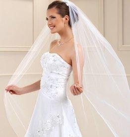 Brautschleier Kurz Oder Lang Mit Spitzenkante Strass In Ivory Weiß