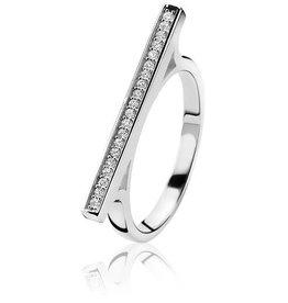 zinzi Zinzi zilveren ring zwart zir1186