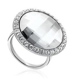 zinzi Zinzi ring zilver met wit zirkonia