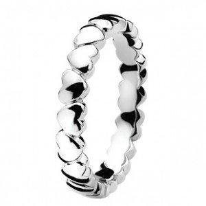 zinzi Zinzi zilveren ring met hartjes