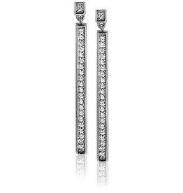 zinzi Zinzi zilveren oorbellen met zwarte swarovski kristallen