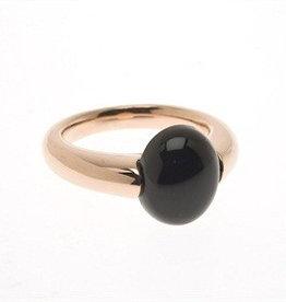 Bronzallure Bronzallure rose gouden ring met ovale onyx