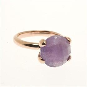 Bronzallure Bronzallure rose gouden ring met paarse amethist