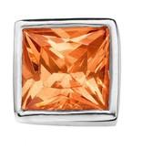 Enchanted Jewels enchanted jewels bedel zilver met goudkleurige zirkonia vierkant
