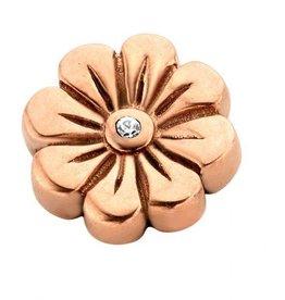 Enchanted Jewels Enchanted jewels bedel bloem rose goud met zirkonia