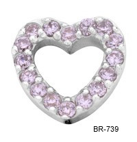 Enchanted Jewels Enchanted jewels bedel zilveren hart licht roze