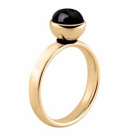 MelanO Colours Melano twisted gouden stalen ring