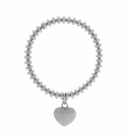 Bronzallure Armband Bronzallure armband wit goud met hartje