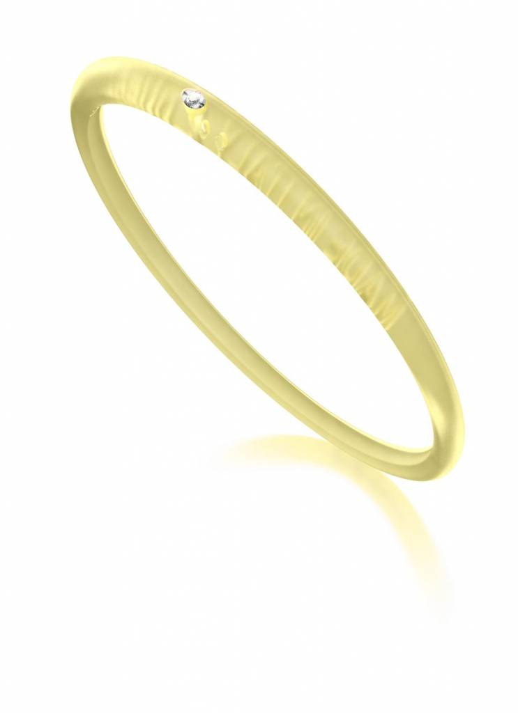 DuePunti armband transparant geel