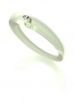 DuePunti ring transparant groen