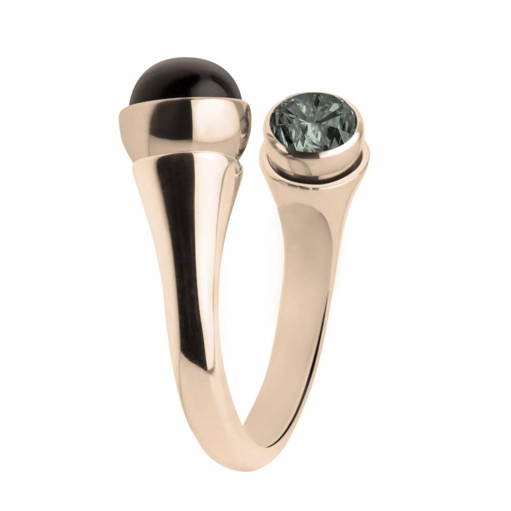 MelanO Colours Melano twisted Curved rose ring 5070