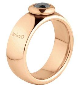 MelanO Colours Melano Vivid Vicky gouden stalen ring m01r9010RG 8mm