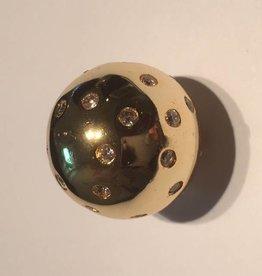 Sparkling Jewels Sparkling Jewels  bal pave goud 20mm