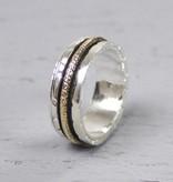 Jéh Jewels Jéh Jewels Ring 18483 zilver en gold filled