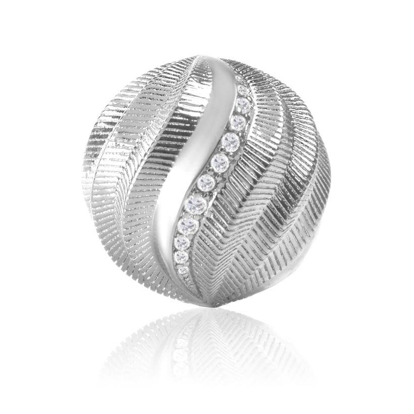 Sparkling Jewels Sparkling Jewels bal zilver gedraaid 20mm