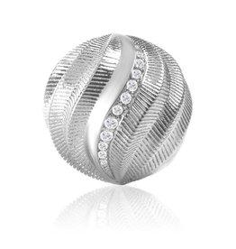 Sparkling Jewels Sparkling Jewels zilver gedraaid 14mm